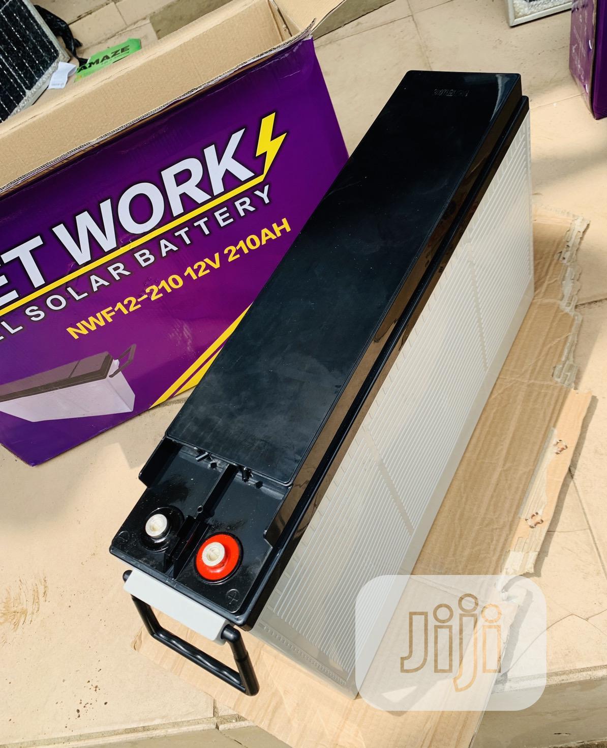 210ah 12v Network Slim Battery   Solar Energy for sale in Ikeja, Lagos State, Nigeria