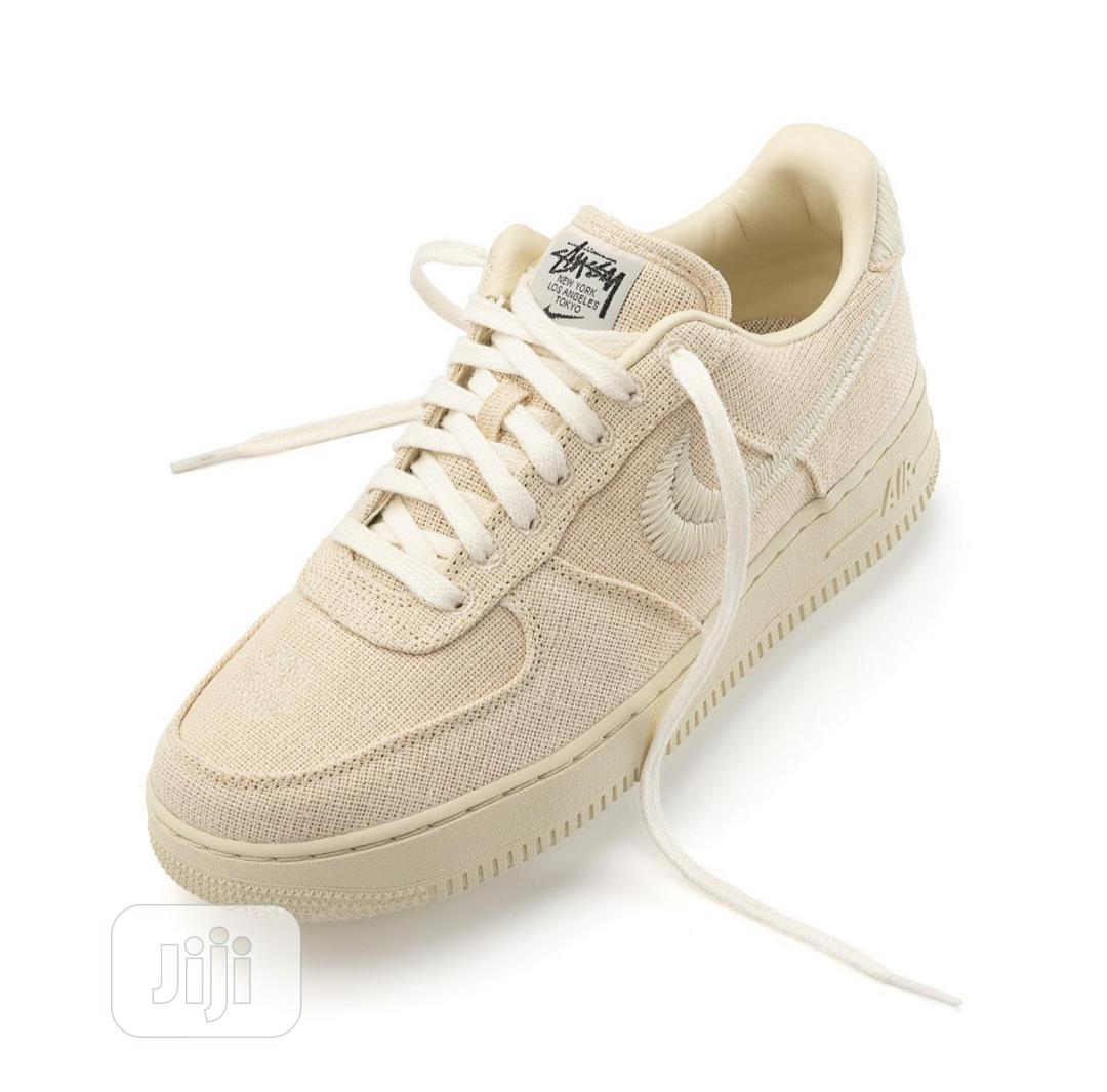 Nike Air Force 1 X Stussy in Beige/Khaki | Shoes for sale in Ikoyi, Lagos State, Nigeria