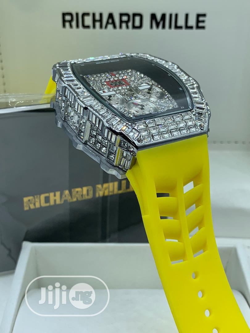 Richard Millie Chronograph Iced Wrist Watch | Watches for sale in Ikeja, Lagos State, Nigeria