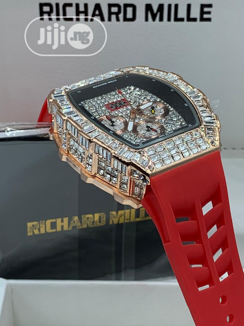 Richard Millie Chronograph Iced Wrist Watch