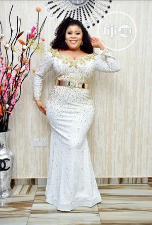 New Female Turkey Quality Luxury Fully Stoned Long Dress   Clothing for sale in Lagos State, Lagos Island (Eko)