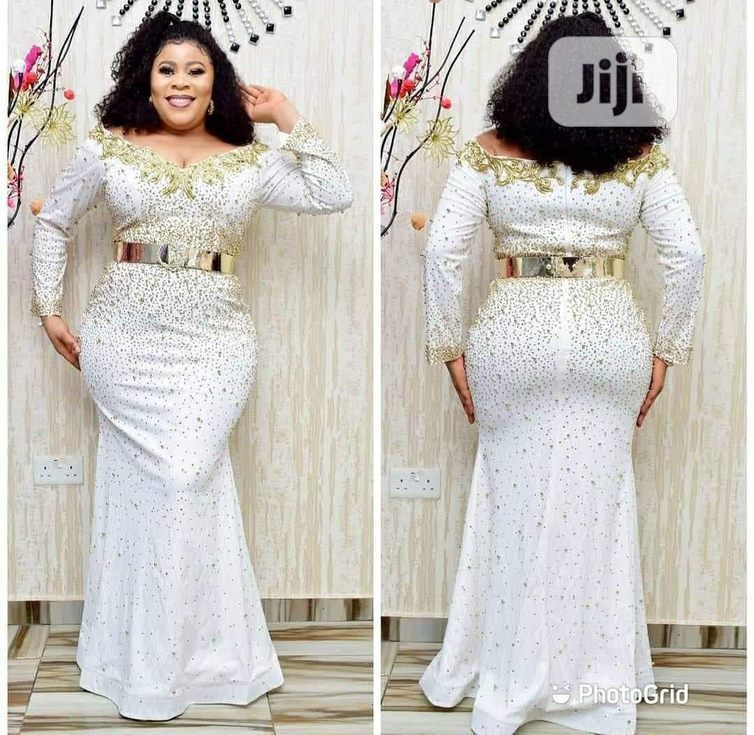New Female Turkey Quality Luxury Fully Stoned Long Dress   Clothing for sale in Lagos Island (Eko), Lagos State, Nigeria