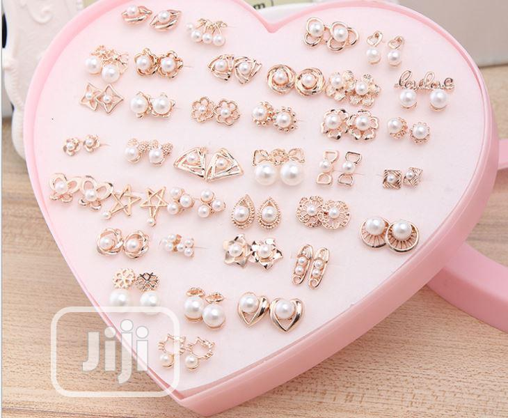 36 Pair/Set Gold Steel Earring