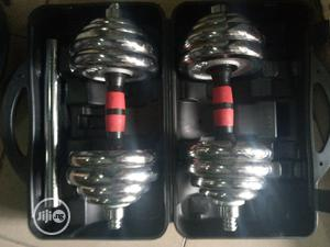 Detachable 30kg Barbell And Dumbbell | Sports Equipment for sale in Lagos State, Victoria Island