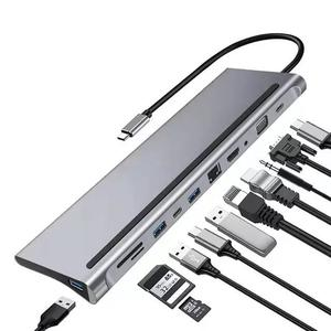 USB C Hub HDMI Ethernet Adapter 11 In 1 USB Type-c Hub   Computer Accessories  for sale in Lagos State, Ikeja
