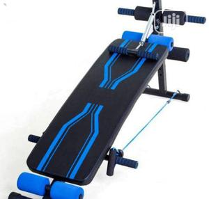 Curved Sit Up Bench With Rope, Spring, Dumbell and Foam   Sports Equipment for sale in Lagos State, Surulere