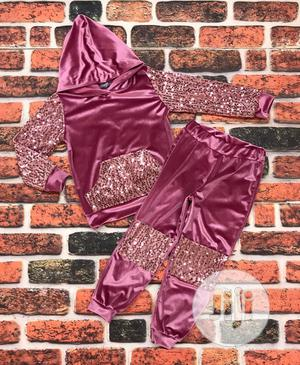 Velvet Pink Hooded Outfit   Children's Clothing for sale in Abuja (FCT) State, Gwarinpa