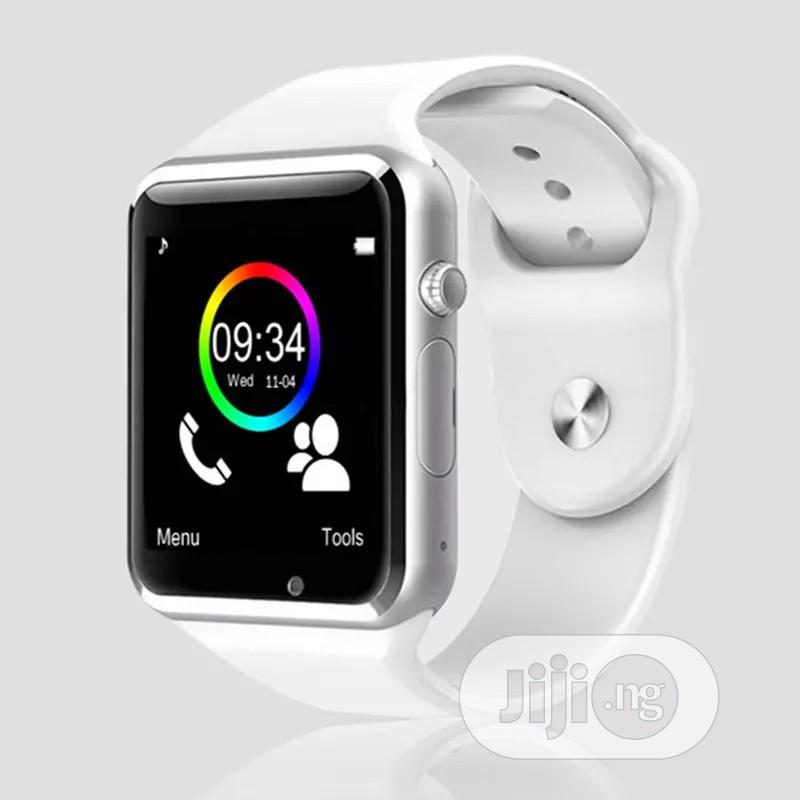 A1 Smartwatch, Fitness Tracker, Support SIM Card/Phone Call. | Smart Watches & Trackers for sale in Uyo, Akwa Ibom State, Nigeria