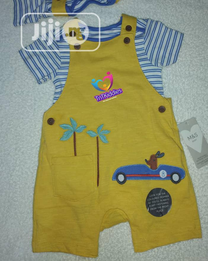 Archive: 2 in 1 Yellow Dungarees With Top