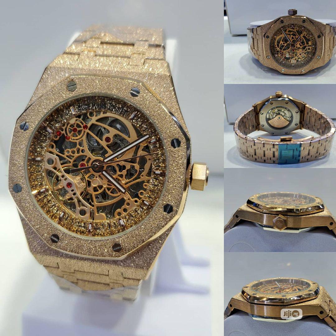 Audemars Piguet Iced Gold Mechanical Watch