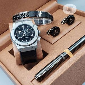 Hublot Arch Leather Watch/Pen and Cufflinks and Bracelet   Watches for sale in Lagos State, Lagos Island (Eko)