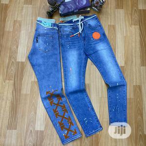 Original Off White With Balmain Designer Jeans   Clothing for sale in Lagos State, Lagos Island (Eko)