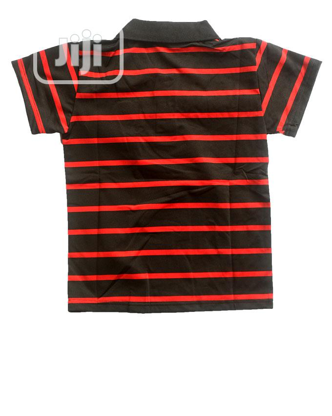 Boys Short Sleeve Top - Black,Red And Yellow | Children's Clothing for sale in Ojota, Lagos State, Nigeria