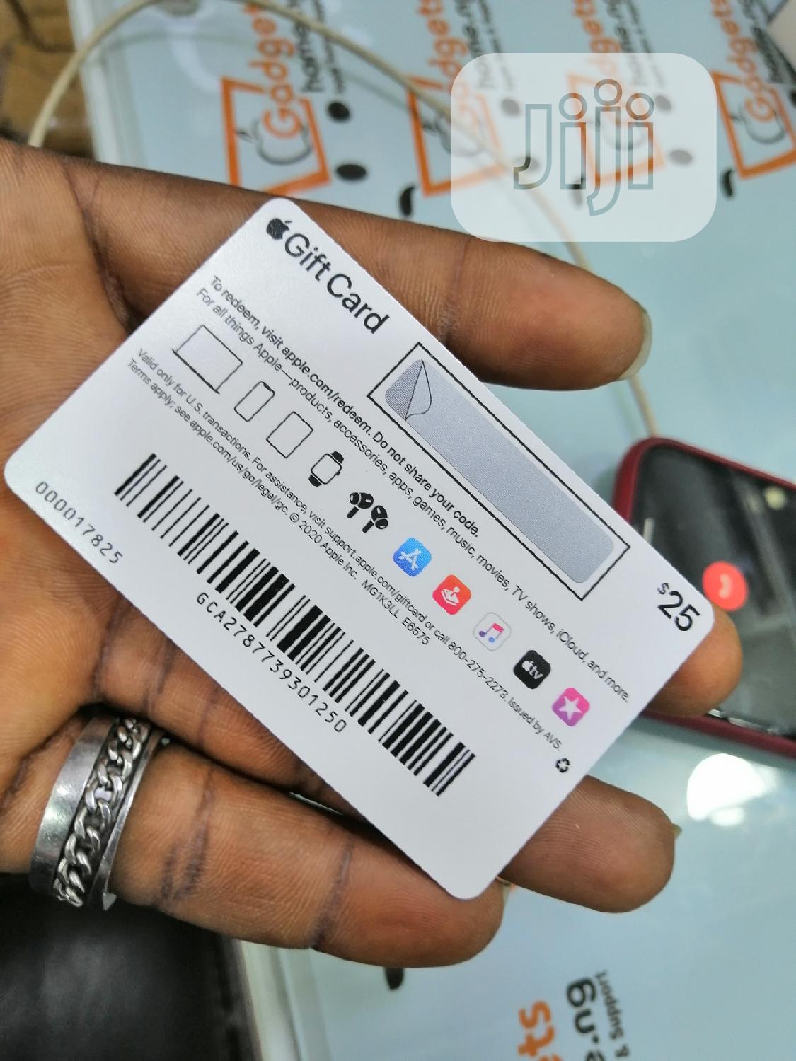 Apple $25 Gift Card iTunes Card | Accessories for Mobile Phones & Tablets for sale in Ikeja, Lagos State, Nigeria