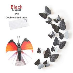 12 Pcs/Set 3D PVC Butterfly Wall Sticker Decor | Home Accessories for sale in Lagos State, Magodo