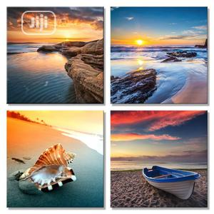 Sunset Landscape 4 Panels Canvas Art Wall Painting   Home Accessories for sale in Lagos State, Magodo