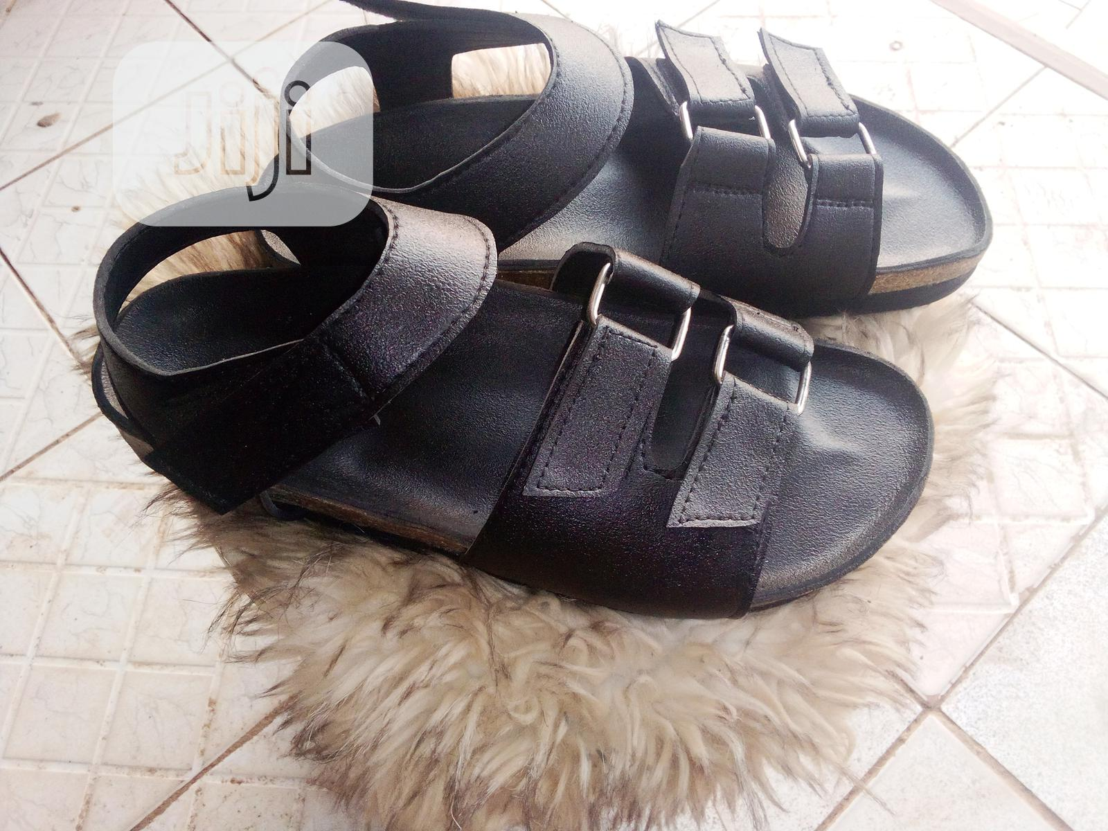 Black Betula Sandals | Shoes for sale in Central Business Dis, Abuja (FCT) State, Nigeria