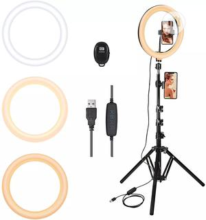 Tripod Stand With 26cm Ring Light for Video Call Make Up | Accessories & Supplies for Electronics for sale in Lagos State, Alimosho