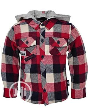 Boys Check Hood Shirt | Children's Clothing for sale in Lagos State, Agege
