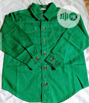 Next Preppy World Famous Boys Shirt- Green | Children's Clothing for sale in Lagos State, Agege