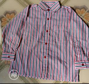 Kids Striped Button Down Shirt | Children's Clothing for sale in Lagos State, Agege