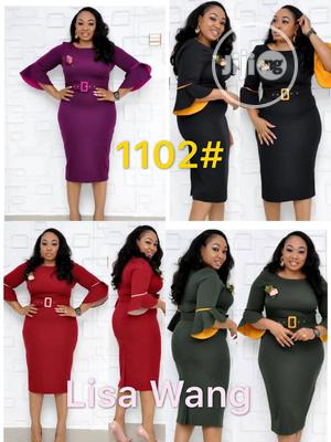 Elegant Quality Ladies Dress With Belt   Clothing for sale in Lagos State, Gbagada
