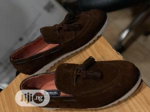 Brown Suede Loafers With Tassel and White Sole   Shoes for sale in Lagos State, Mushin