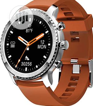Tinwoo Smart Watch for Android / Ios (Silver Band Brown) | Smart Watches & Trackers for sale in Lagos State, Lekki
