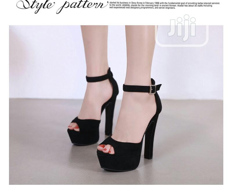 Suede Heeled Sandal   Shoes for sale in Ojo, Lagos State, Nigeria