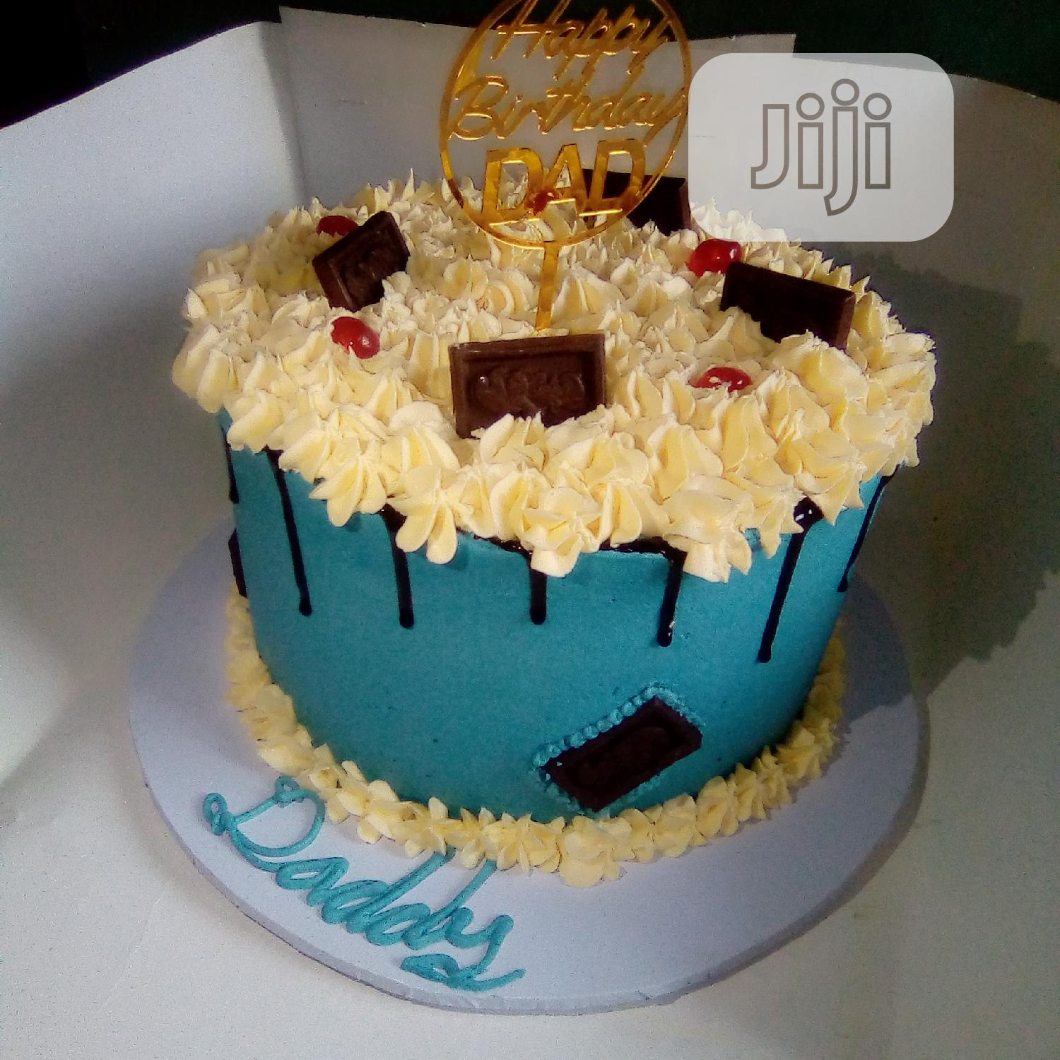 Tall and Yummy Skye Blue 2 in 1 Drip Birthday Cake