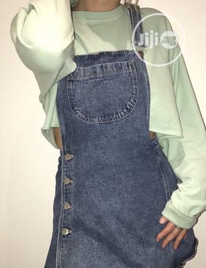 Zara Denim Pinafore Dungaree Skort Skirt   Clothing for sale in Lagos State, Lekki