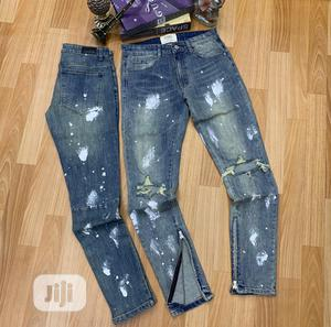 Original OMG With Off White Jeans Design   Clothing for sale in Lagos State, Lagos Island (Eko)