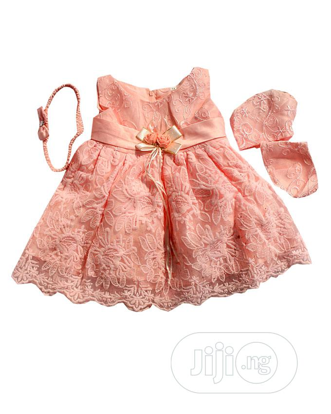 Baby Ball Dress-Pink. And White