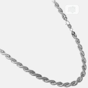 Italian Rope Chain Men Necklace (Solid 925 Sterling Silver) | Jewelry for sale in Lagos State, Victoria Island