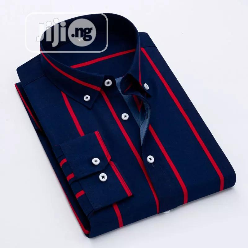 Sets Of Men Long Sleeve Stripe Shirt.   Clothing for sale in Victoria Island, Lagos State, Nigeria