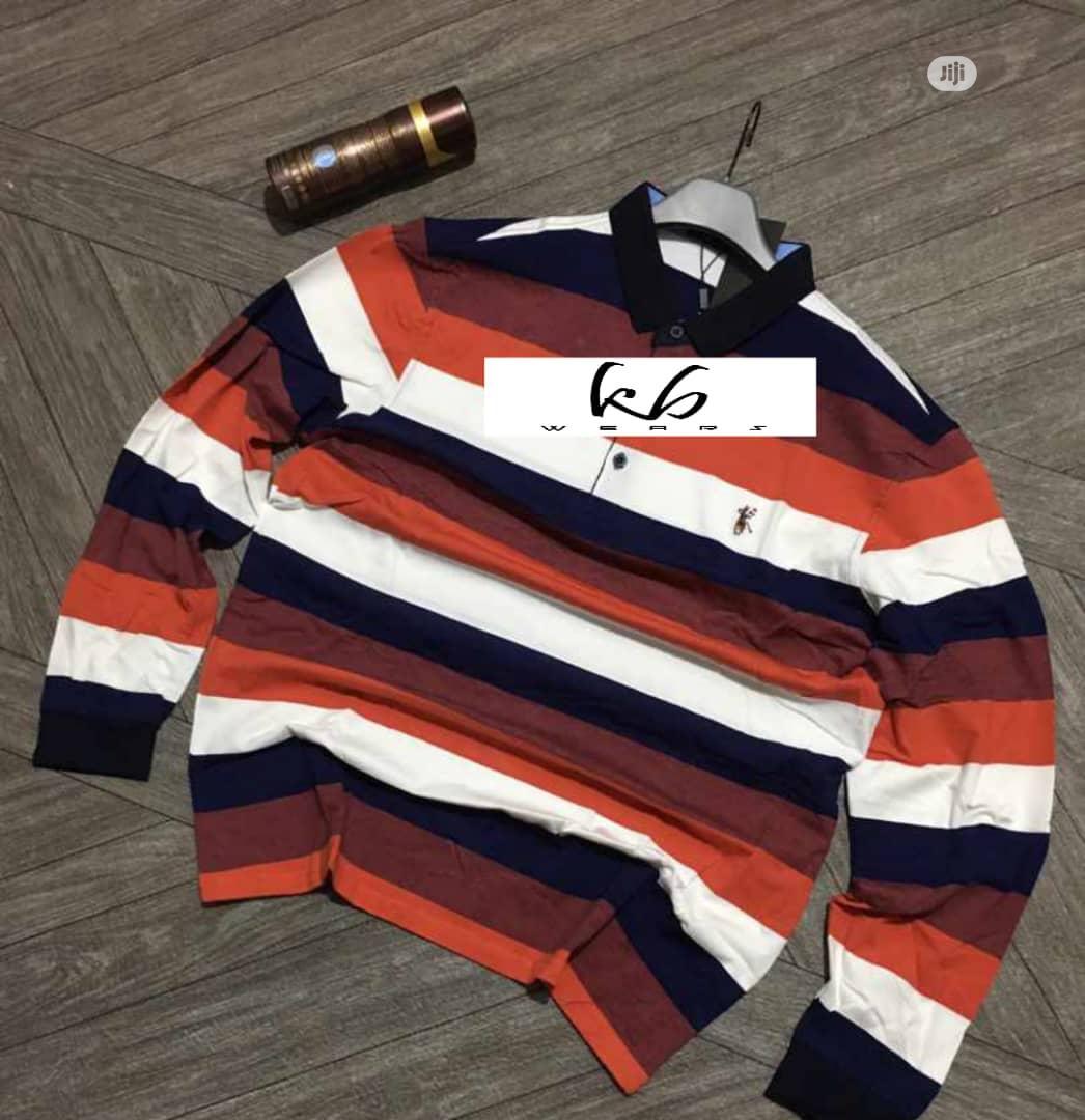 Men Long Sleeve Designers Polo .