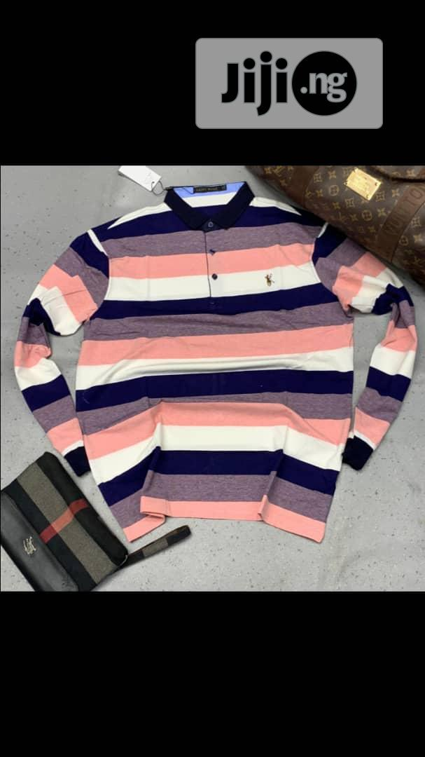 Men Long Sleeve Designers Polo .   Clothing for sale in Lekki, Lagos State, Nigeria