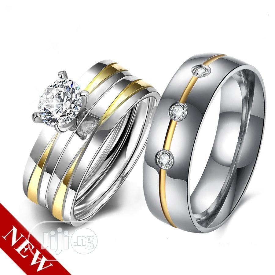 Long Lasting Silver And Gold Wedding Ring Set