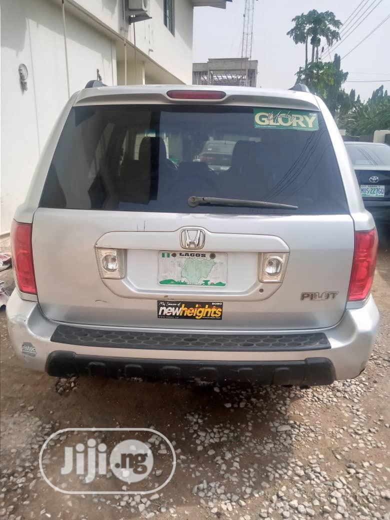 Honda Pilot 2004 EX-L 4x4 (3.5L 6cyl 5A) Silver | Cars for sale in Ibadan, Oyo State, Nigeria