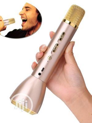 Bluetooth Karaoke Microphone Machine With Inbuilt Speaker | Audio & Music Equipment for sale in Lagos State, Ikeja