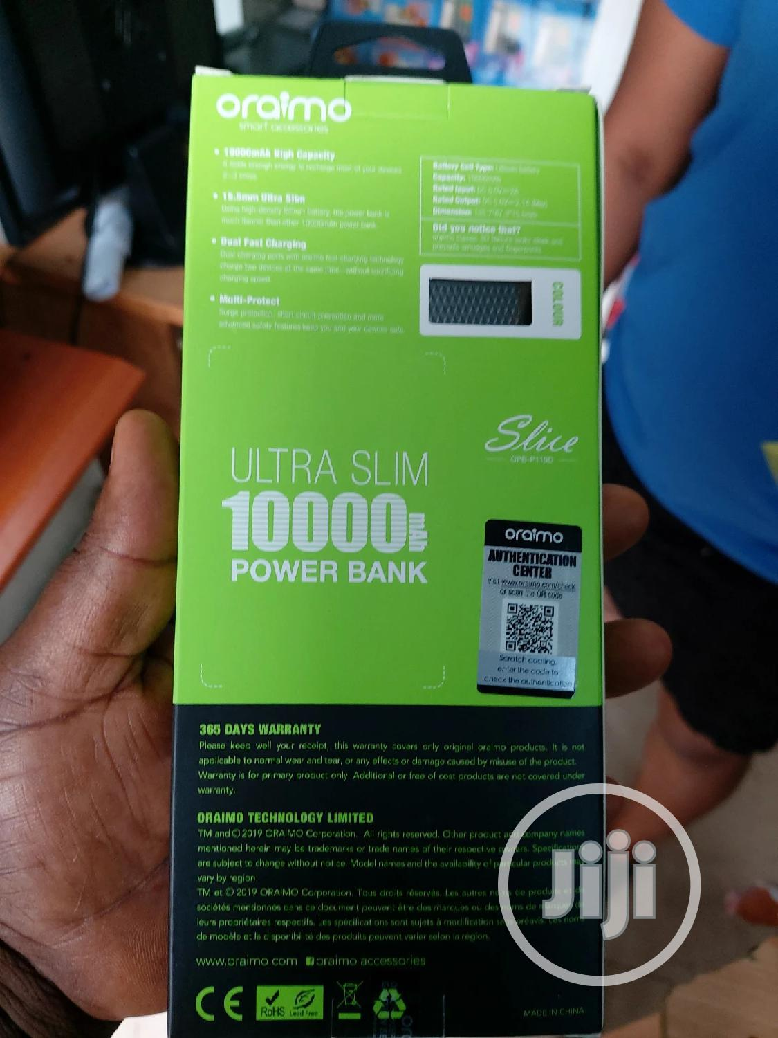 10,000 Oraimo Power Bank | Accessories for Mobile Phones & Tablets for sale in Ikeja, Lagos State, Nigeria