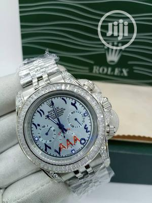 High Quality Rolex Silver Ice Chain With Arabic Dial | Watches for sale in Lagos State, Magodo