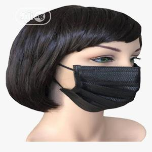 Black Medical Facemask Mask 3 Ply | Medical Supplies & Equipment for sale in Lagos State, Lekki