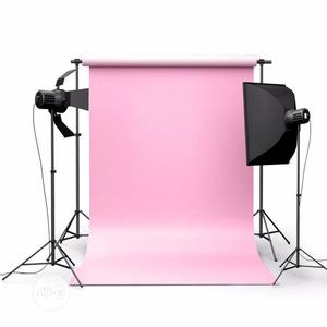 Backdrop 5x7ft Pure Pink Color Photography Background | Accessories & Supplies for Electronics for sale in Lagos State, Apapa