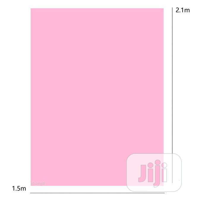 Backdrop 5x7ft Pure Pink Color Photography Background | Accessories & Supplies for Electronics for sale in Apapa, Lagos State, Nigeria