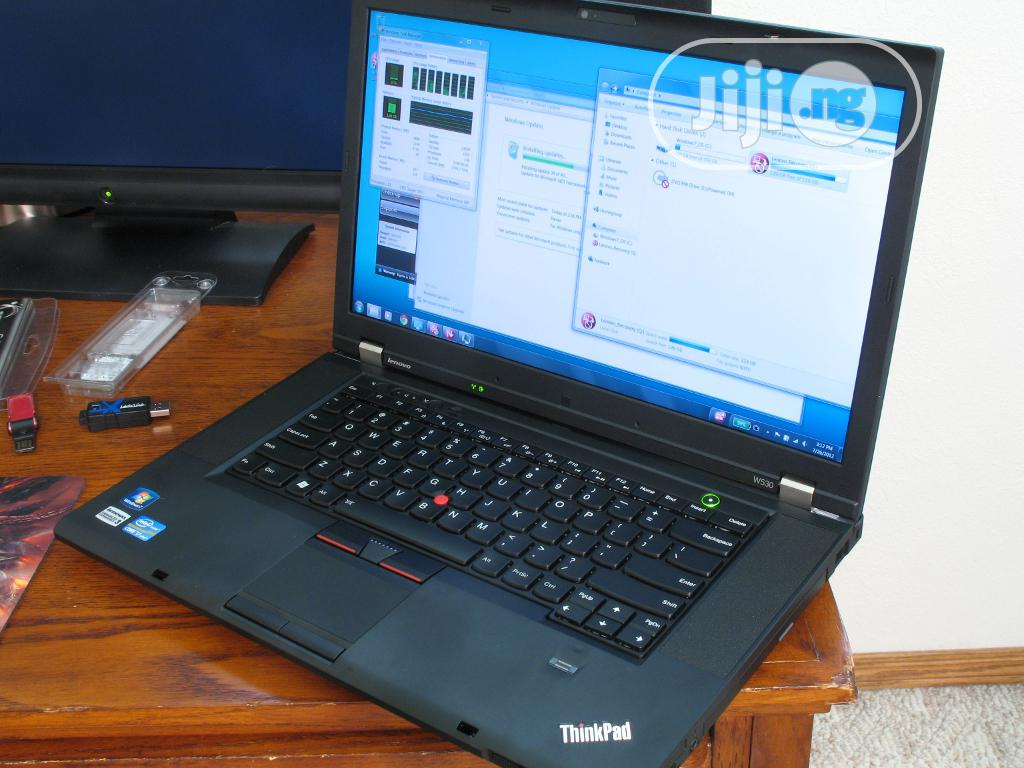 Laptop Lenovo ThinkPad W530 8GB Intel Core I7 HDD 500GB | Laptops & Computers for sale in Port-Harcourt, Rivers State, Nigeria