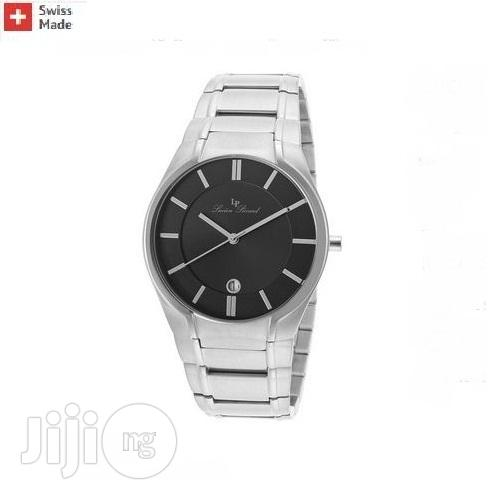Lucien Piccard Davos Stainless Steel Black Dial Watch