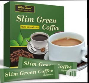 Slim Tea Slim and Flat Tummy Green Coffee With Ganoderma | Vitamins & Supplements for sale in Lagos State, Ifako-Ijaiye