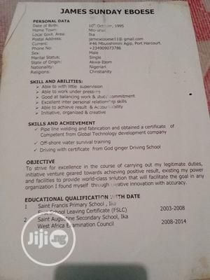 Office CV | Office CVs for sale in Rivers State, Port-Harcourt