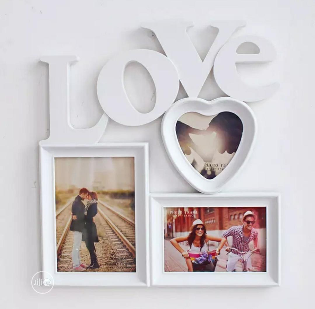 Love Wall Frame (You Can Insert Your Pictures)
